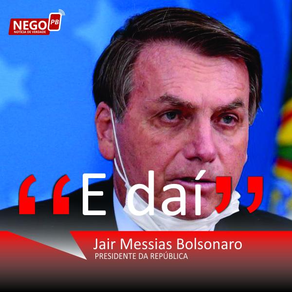 URGENTE: Presidente Jair Bolsonaro testa positivo para Covid-19