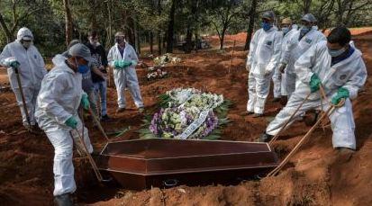 Brasil quebra triste recorde e registra 1.910 mortos por covid-19 em 24h