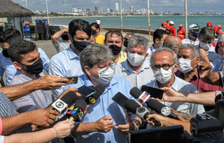 João Azevêdo e Cícero Lucena iniciam parceria para assegurar uso correto de redes de esgotamento sanitário e de galerias pluviais