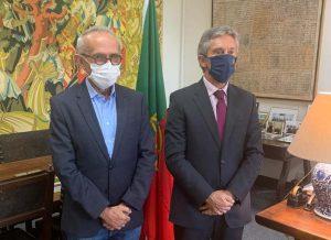 Cícero Lucena se reúne com embaixador de Portugal e discute acordos comerciais
