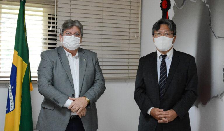 Governador João Azevêdo recebe cônsul-geral do Japão VEJA FOTOS