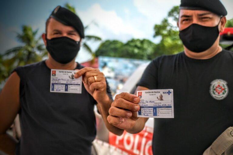 Vacinação das forças de segurança prossegue nesta sexta-feira