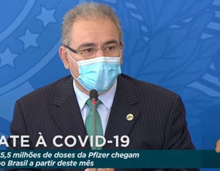 Queiroga anuncia 15,5 milhões de doses de vacina da Pfizer até junho ASSISTA