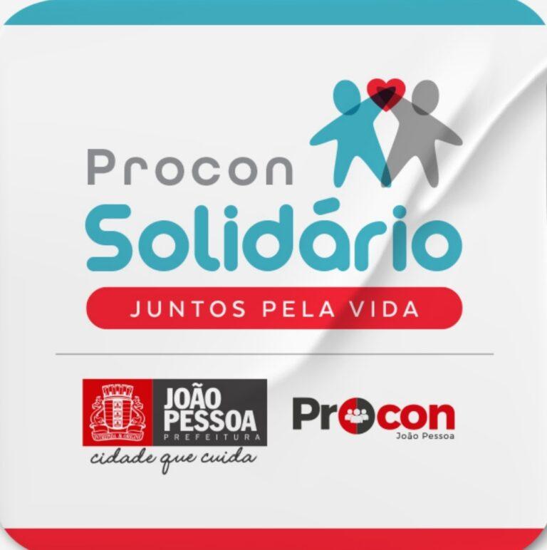 Procon-JP lança Programa 'Procon Solidário' na manhã dessa quarta-feira no Paço Municipal. Ação pretende distribuir 12 mil cestas básicas