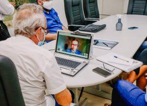 Prefeito participa de videoconferência para discutir a inclusão de João Pessoa no Pacto Global da ONU