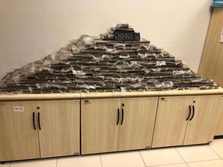 Polícias Militar e Federal apreendem 248 kg de drogas durante a madrugada em rodovia da Paraíba
