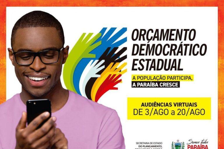 Audiência virtual do Orçamento Democrático abrange as regiões de Catolé do Rocha, Princesa Isabel e Pombal