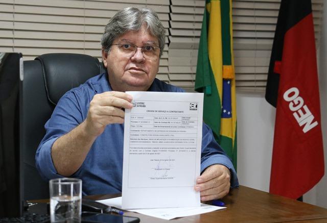 Governador João Azevêdo autoriza obras de mobilidade urbana que somam R$ 31,5 milhões em investimentos